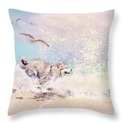 River Tease Throw Pillow