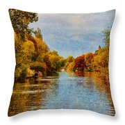 River Thames At Staines Throw Pillow