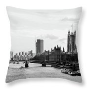 River Thames, London Throw Pillow