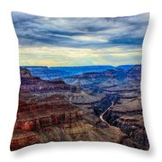 River Through The Canyon Throw Pillow
