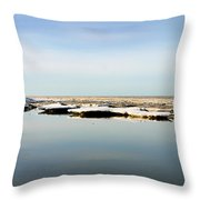 River To The Arctic Ocean Throw Pillow