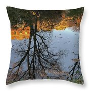 River Trees Throw Pillow