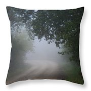 River Valley Road Throw Pillow