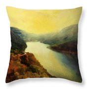 River Valley Sunrise Throw Pillow