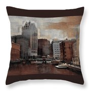 River View Aged Throw Pillow
