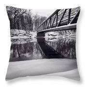 River View B And W Throw Pillow