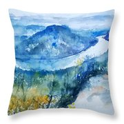 River View Landscape Throw Pillow