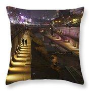 River Walk - Cheonggyecheon - Seoul Throw Pillow