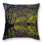 River Walk Reflections Throw Pillow