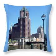 River Walk View Photo Throw Pillow