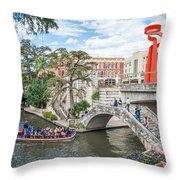 River Walk View San Antonio Throw Pillow