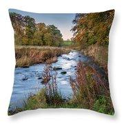 River Wansbeck At Wallington Throw Pillow
