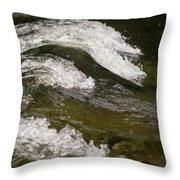 River Waves Throw Pillow