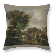 River Wensum, Norwich Throw Pillow