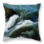 River With Rapids Throw Pillow