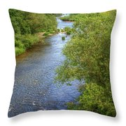 River Wye From Hay-on-wye Bridge Throw Pillow