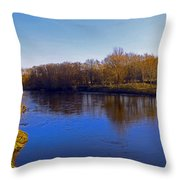 River Wye,herefordshire Uk Throw Pillow