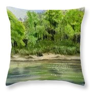 Riverbank Throw Pillow