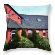Riverbank Restaurant Riverstown Ireland Throw Pillow