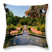 Botanical Gardens Throw Pillow by Lisa Wooten