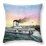 Riverboat Bald Eagle Throw Pillow