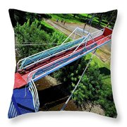 Riverboat Landing At Sacajawea Park Throw Pillow