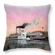 Riverboat Saint Paul Throw Pillow