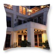 Riverfront Architecture Throw Pillow