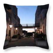 Riverfront At Twilight Throw Pillow