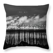 Riverfront Park Charleston Throw Pillow