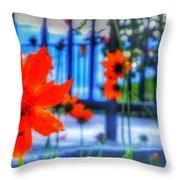 Riverhouse Flowers Throw Pillow