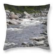 Rivers Of New Hampshire Throw Pillow