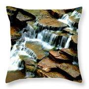 Riverside Place Falls  Throw Pillow
