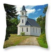 Riverside Presbyterian Church 1800s Throw Pillow