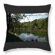 Riverside Reflection Throw Pillow