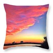 Riverside Skyline Throw Pillow