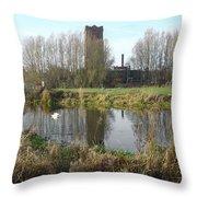 Riverside Walk - Burton On Trent Throw Pillow