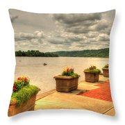 Riverside Walk Throw Pillow