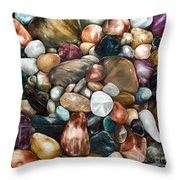 Riverstones I Throw Pillow