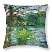 Riverview Spring Stage One Throw Pillow