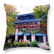 Riverwalk Lunch Throw Pillow