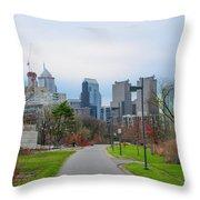 Riverwalk - Philadelphia Throw Pillow