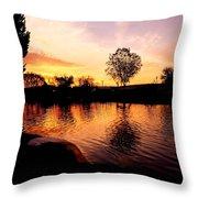 Riverwalk Sunrise  Throw Pillow