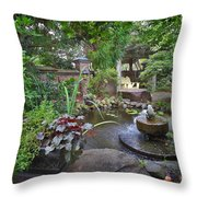 Riverwood Coffee Shop Outside Throw Pillow