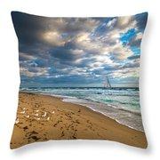 Riviera Beach Sunrise Throw Pillow