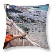 Riviera Breeze Throw Pillow