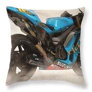 Rizla Suzuki Gsv - R Throw Pillow