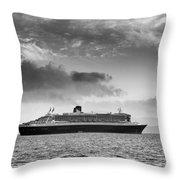 Rms Queen Mary 2 Mono Throw Pillow