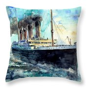 Rms Titanic White Star Line Ship Throw Pillow