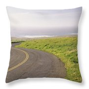 Road Along The Coast, Point Reyes Throw Pillow